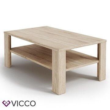 VICCO Couchtisch Sonoma Eiche 100 x 60 cm Wohnzimmertisch Beistelltisch Sofatisch Kaffeetisch - 4