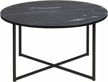 AC Design Furniture Couchtisch Antje, B: 80 x T:80 x H: 45 cm, Glas, Schwarz - 1