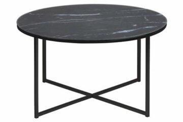 AC Design Furniture Couchtisch Antje, B: 80 x T:80 x H: 45 cm, Glas, Schwarz - 2
