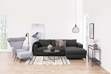 AC Design Furniture Couchtisch Antje, B: 80 x T:80 x H: 45 cm, Glas, Schwarz - 3