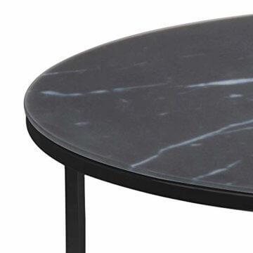 AC Design Furniture Couchtisch Antje, B: 80 x T:80 x H: 45 cm, Glas, Schwarz - 4