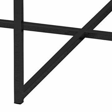 AC Design Furniture Couchtisch Antje, B: 80 x T:80 x H: 45 cm, Glas, Schwarz - 5