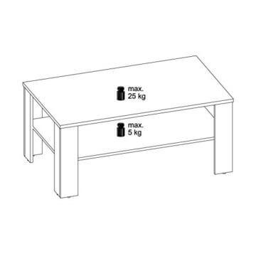 CARO-Möbel Couchtisch Wohnzimmertisch ANIMO in schwarz mit Ablage, 100 x 60 cm - 2