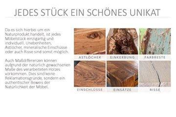 Design Teakholz Couchtisch DRIFTWOOD mit Glasplatte eckig Tisch Treibholz Holztisch - 7