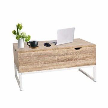 ease Couchtisch mit Höhenverstellbar Wohnzimmertisch Funktionaler Design Couchtisch mit Stauraum und Ablage für Büro, Küche, Wohnzimmer - 2