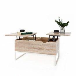 ease Couchtisch mit Höhenverstellbar Wohnzimmertisch Funktionaler Design Couchtisch mit Stauraum und Ablage für Büro, Küche, Wohnzimmer - 1