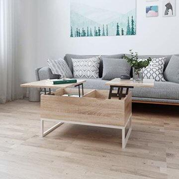 ease Couchtisch mit Höhenverstellbar Wohnzimmertisch Funktionaler Design Couchtisch mit Stauraum und Ablage für Büro, Küche, Wohnzimmer - 7