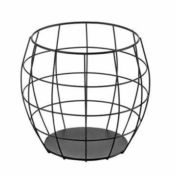 [en.casa] Beistelltisch 3er Set Couchtisch in 3 Größen Sofatisch aus Metall Kaffetisch mit abnehmbaren Metalldeckeln Tablettisch Wohnzimmertisch mit Stauraum Metallkörbe Schwarz - 4