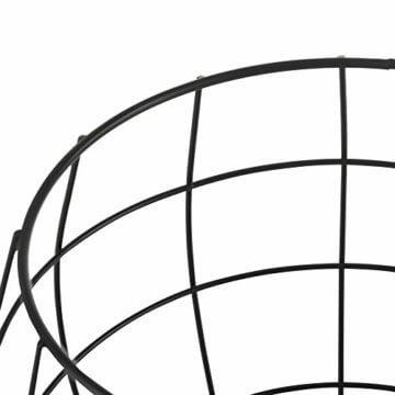 [en.casa] Beistelltisch 3er Set Couchtisch in 3 Größen Sofatisch aus Metall Kaffetisch mit abnehmbaren Metalldeckeln Tablettisch Wohnzimmertisch mit Stauraum Metallkörbe Schwarz - 5