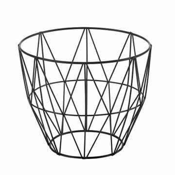 [en.casa] Beistelltisch 3er Set Couchtisch in 3 Größen Sofatisch aus Metall Kaffetisch mit abnehmbaren Deckeln Tablettisch Rund Wohnzimmertisch mit Stauraum Metallkörbe Schwarz/Holz - 4