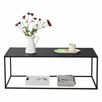 [en.casa] Konsolentisch Beistelltisch 40x110x50 cm Wohnzimmertisch Industrie-Design Metall Schwarz - 2