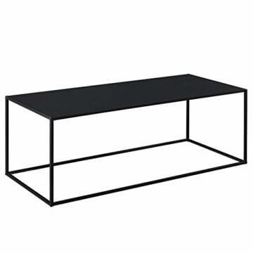 [en.casa] Konsolentisch Beistelltisch 40x110x50 cm Wohnzimmertisch Industrie-Design Metall Schwarz - 3