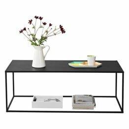 [en.casa] Konsolentisch Beistelltisch 40x110x50 cm Wohnzimmertisch Industrie-Design Metall Schwarz - 1