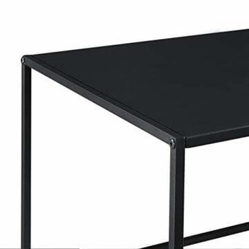 [en.casa] Konsolentisch Beistelltisch 40x110x50 cm Wohnzimmertisch Industrie-Design Metall Schwarz - 5