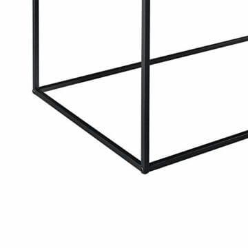 [en.casa] Konsolentisch Beistelltisch 40x110x50 cm Wohnzimmertisch Industrie-Design Metall Schwarz - 6