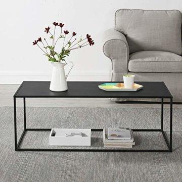 [en.casa] Konsolentisch Beistelltisch 40x110x50 cm Wohnzimmertisch Industrie-Design Metall Schwarz - 7