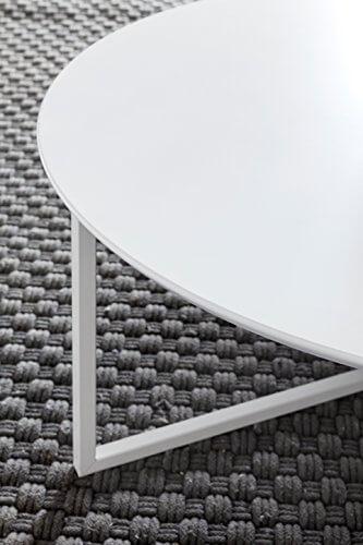 FineBuy Design Couchtisch White 80 cm Rund Weiß Matt lackiert | Moderner Wohnzimmertisch MDF Holz | Lounge Sofa Tisch Metall Gestell - 7