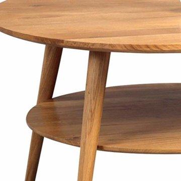 HomeTrends4You 247222 Couchtisch Stella, rund, Echtholz Wildeiche massiv geölt, Durchmesser 80cm, Höhe 45cm - 2