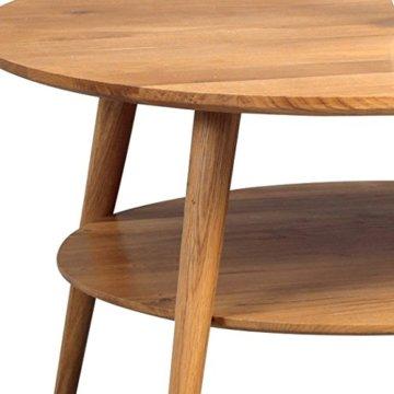 HomeTrends4You 247222 Couchtisch Stella, rund, Echtholz Wildeiche massiv geölt, Durchmesser 80cm, Höhe 45cm - 4