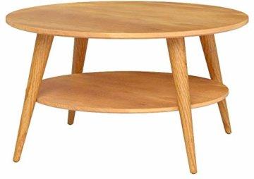 HomeTrends4You 247222 Couchtisch Stella, rund, Echtholz Wildeiche massiv geölt, Durchmesser 80cm, Höhe 45cm - 6