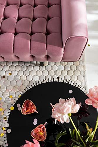 KARE Design Couchtisch Wire Black 2er Set, runder, moderner Glastisch, großer Beistelltisch, Kaffeetisch, Nachttisch, Schwarz (H/B/T) 30,5xØ60cm & 33,5xØ69,5cm - 7