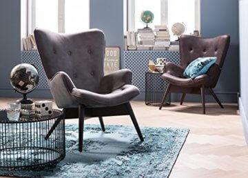 KARE Design Couchtisch Wire Black 2er Set, runder, moderner Glastisch, großer Beistelltisch, Kaffeetisch, Nachttisch, Schwarz (H/B/T) 30,5xØ60cm & 33,5xØ69,5cm - 8