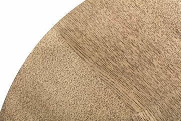 LIFA LIVING Runde Couchtische im 2er Set, 2 Beistelltische aus schwarzem Metall und MDF-Holz, Vintage-Stil & Industrie-Stil mit Korbfunktion, bis zu 20kg Belastbarkeit, Ø 40 x 36 cm, Ø 50 x 40 cm - 4
