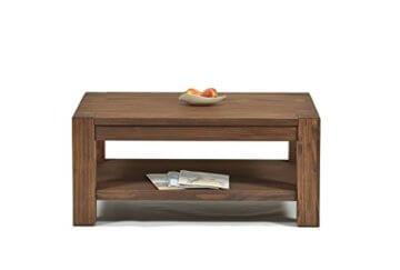 Naturholzmöbel Seidel Couchtisch Beistelltisch mit Ablage,Rio Bonito, 100x70cm, Höhe 60 cm, Pinie Massivholz, geölt und gewachst, Wohnzimmer Tisch Farbton Cognac braun - 2