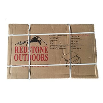 Redstone Couchtisch mit Höhenverstellbarer Platte Schwarz - 6