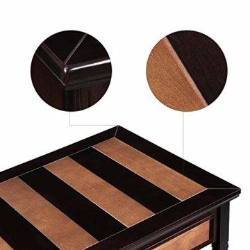 VASAGLE Couchtisch mit 2 Schubladen,120 x 60 x 45 cm, Kaffeetisch mit Metallgriffen, Beine aus Massivholz, einfache Montage, Fernsehtisch für Wohnzimmer, Büro LCT11CY - 5