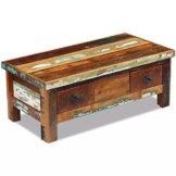 vidaXL Massivholz Couchtisch Beistelltisch Wohnzimmer Sofa Kaffee Tisch Antik - 1