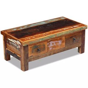 vidaXL Massivholz Couchtisch Beistelltisch Wohnzimmer Sofa Kaffee Tisch Antik - 2