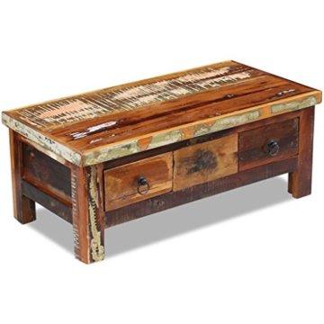 vidaXL Massivholz Couchtisch Beistelltisch Wohnzimmer Sofa Kaffee Tisch Antik - 3