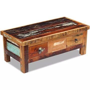 vidaXL Massivholz Couchtisch Beistelltisch Wohnzimmer Sofa Kaffee Tisch Antik - 4