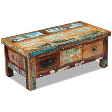 vidaXL Massivholz Couchtisch Beistelltisch Wohnzimmer Sofa Kaffee Tisch Antik - 5