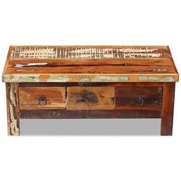 vidaXL Massivholz Couchtisch Beistelltisch Wohnzimmer Sofa Kaffee Tisch Antik - 6