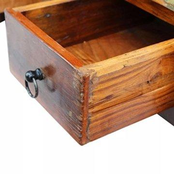 vidaXL Massivholz Couchtisch Beistelltisch Wohnzimmer Sofa Kaffee Tisch Antik - 7