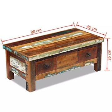vidaXL Massivholz Couchtisch Beistelltisch Wohnzimmer Sofa Kaffee Tisch Antik - 8