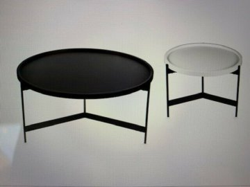 Couchtisch, Beistelltisch, rund, schwarz, puristisch, Designer  NEU, OVP