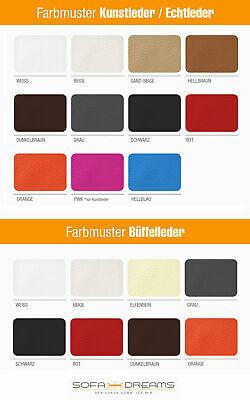 Couchtisch WAVE Designer Wohnzimmertisch Beistelltisch Leder versch. Farben