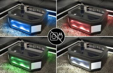 Couchtisch Wohnzimmertisch Beistelltisch Tisch PRATO LED Beleuchtung RGB Design