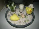 Dekoschale Tablett Holz Kerzenteller Holzschale Kerzen Tischdeko Frühling Deko
