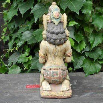 Dewi Schale Statue Göttin Figur Kerze Buddha 43cm bunt bemalt Stein Guss Deko