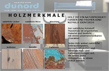 DuNord Design Couchtisch Hausbar Bonaire 100cm Palisander Sheesham Massivholz Truhe Bar - 8