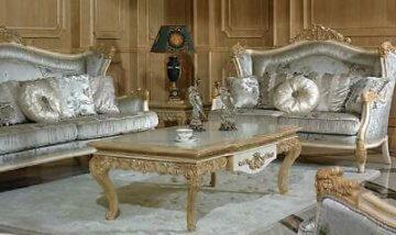 Edler Designer Klassischer Couchtisch Beistelltisch Glas Sofa Wohnzimmer Tisch