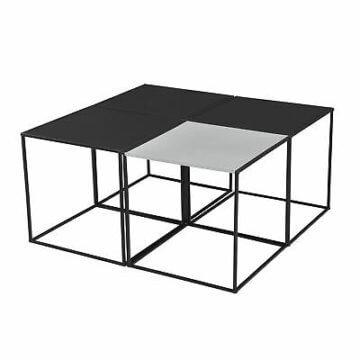 [en.casa] 4x Couchtisch Beistelltisch Wohnzimmertisch Tisch Kaffeetisch 4er Set