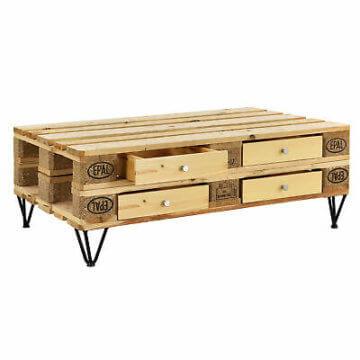 [en.casa]® 4x Schublade für Europaletten Regal Kommode Couchtisch Paletten Möbel