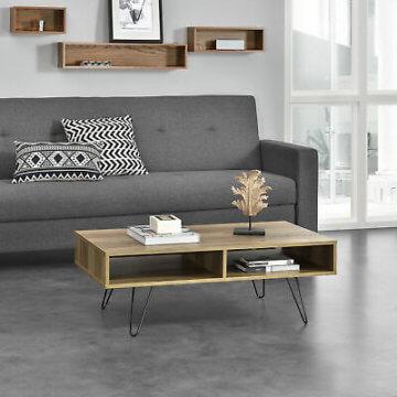 [en.casa]® Couchtisch 100x60x35cm Wohnzimmertisch Beistelltisch Holz-Optik MDF