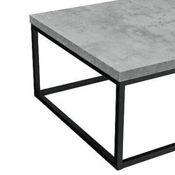 [en.casa]® Couchtisch 110x65x35cm Wohnzimmertisch Beistelltisch Beton-Optik MDF