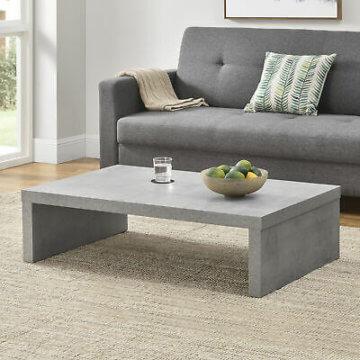 [en.casa]® Couchtisch Beton grau 110x70cm Wohnzimmertisch Beistelltisch Tisch